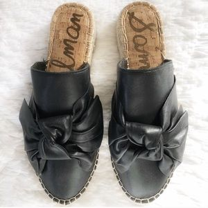 Sam Edelman Black Bow Mules 🖤